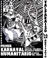 Affiche Karnaval humanitario de Valparaiso 2010