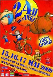 affiche 24h de l'INSA 2009