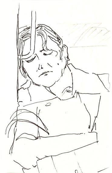 femme barre de metro